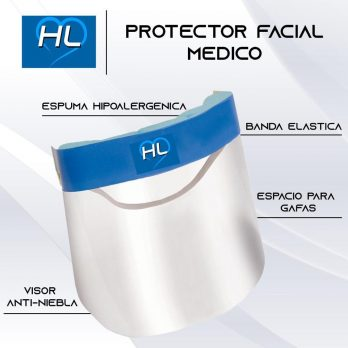 Protector facial tipo medico.